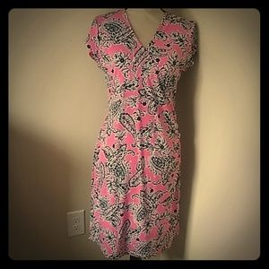 Jones New York pink and black dress M